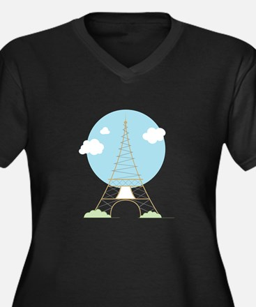 Eiffel Tower Plus Size T-Shirt