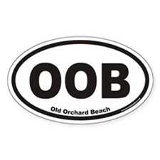 Old Orchard Beach OOB Euro Oval Stickers