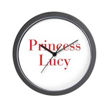 Princess Lucy-bod red Wall Clock