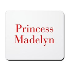 Princess Madelyn-bod red Mousepad