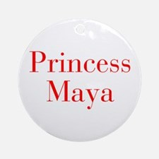 Princess Maya-bod red Ornament (Round)