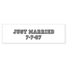 Just Married 7-7-07 Bumper Bumper Sticker