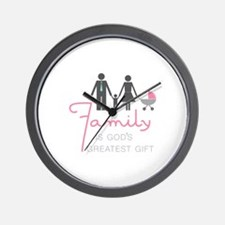 Family Gift Wall Clock