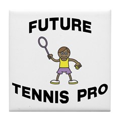 Future Tennis Pro (Boy) Tile Coaster