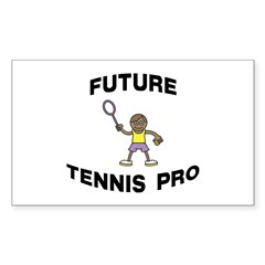 Future Tennis Pro (Boy) Rectangle Decal