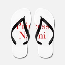 Princess Naomi-bod red Flip Flops