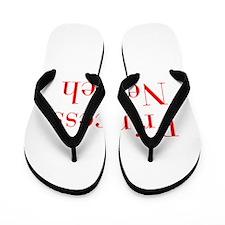 Princess Nevaeh-bod red Flip Flops