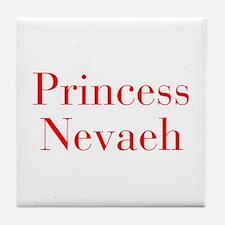 Princess Nevaeh-bod red Tile Coaster