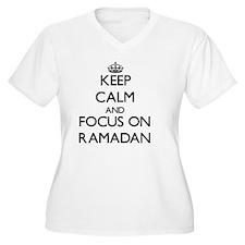 Keep Calm and focus on Ramadan Plus Size T-Shirt