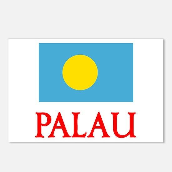 Palau Flag Design Postcards (Package of 8)