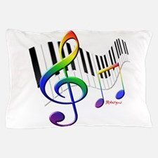 Keyboard & Treble Clef Pillow Case