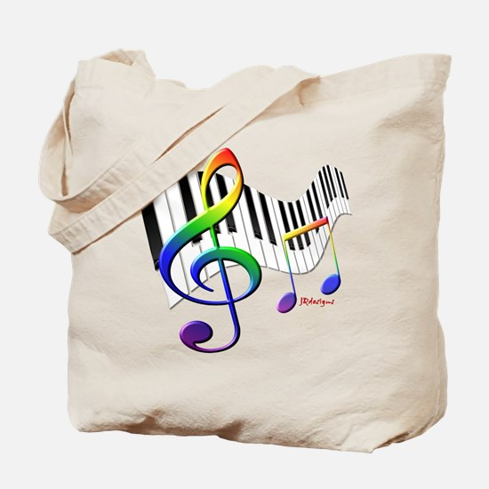 Keyboard & Treble Clef Tote Bag