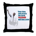 Freedumb Bush Throw Pillow