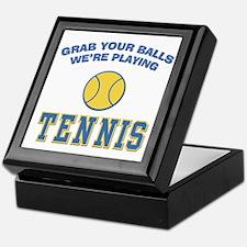 Grab Your Balls Tennis Keepsake Box