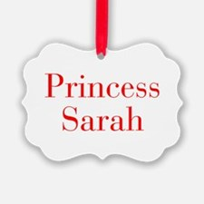 Princess Sarah-bod red Ornament
