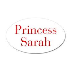 Princess Sarah-bod red Wall Decal