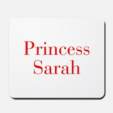 Princess Sarah-bod red Mousepad