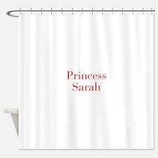 Princess Sarah-bod red Shower Curtain