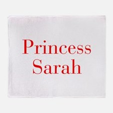 Princess Sarah-bod red Throw Blanket