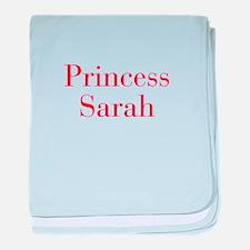 Princess Sarah-bod red baby blanket