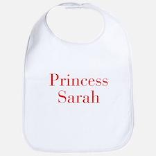 Princess Sarah-bod red Bib