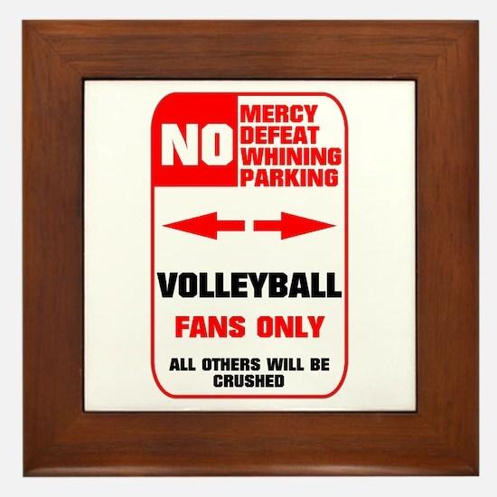 NO PARKING Volleyball Sign Framed Tile