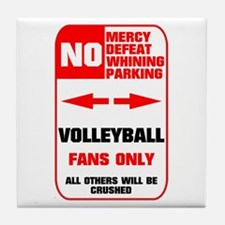 NO PARKING Volleyball Sign Tile Coaster
