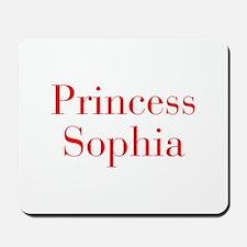 Princess Sophia-bod red Mousepad