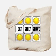Eat Sleep Serve Tennis Tote Bag