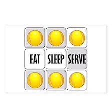 Eat Sleep Serve Tennis Postcards (Package of 8)