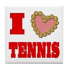 I Heart Tennis Tile Coaster