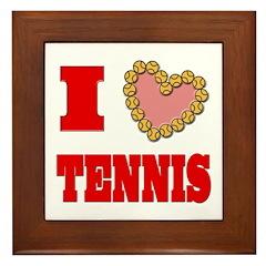 I Heart Tennis Framed Tile