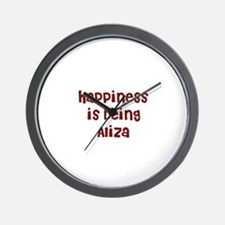 happiness is being Aliza Wall Clock
