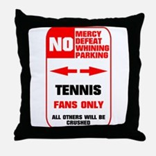 no parking tennis Throw Pillow