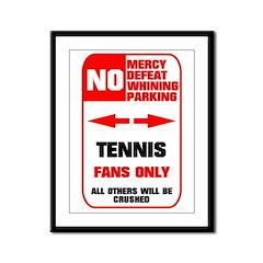 no parking tennis Framed Panel Print