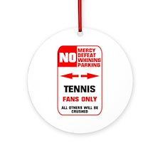 no parking tennis Ornament (Round)