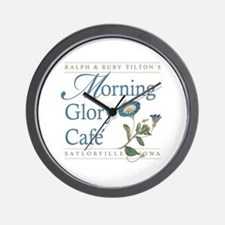 Morning Glory Cafe Wall Clock