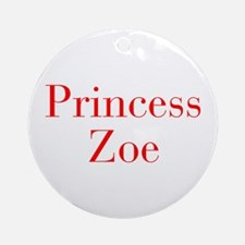 Princess Zoe-bod red Ornament (Round)