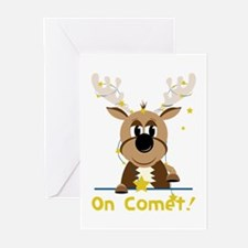 On Comet Greeting Cards