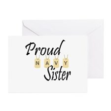 Camo Navy Sister Greeting Cards (Pk of 10)
