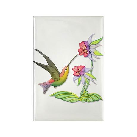 Hummingbird Flight Rectangle Magnet (10 pack)