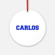 CARLOS-fresh blue Ornament (Round)