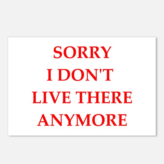 SORRY Postcards (Package of 8)