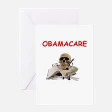 anti obamacare Greeting Card