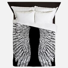 Angel Wings black Queen Duvet