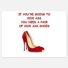 red high heels 5x7 Flat Cards