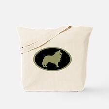 Sage & Black Collie Tote Bag