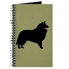Sage & Black Collie Journal