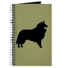 Sage & Black Collie Journal