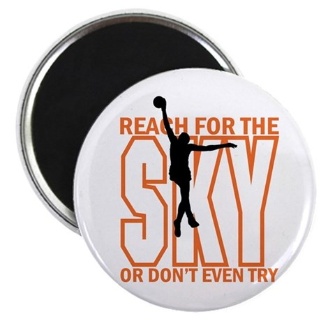 "Basketball Reach for the Sk 2.25"" Magnet (10 pack)"